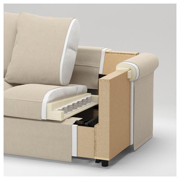 HÄRLANDA Sofá 4 asientos, con chaiselongues/Ljungen verde claro