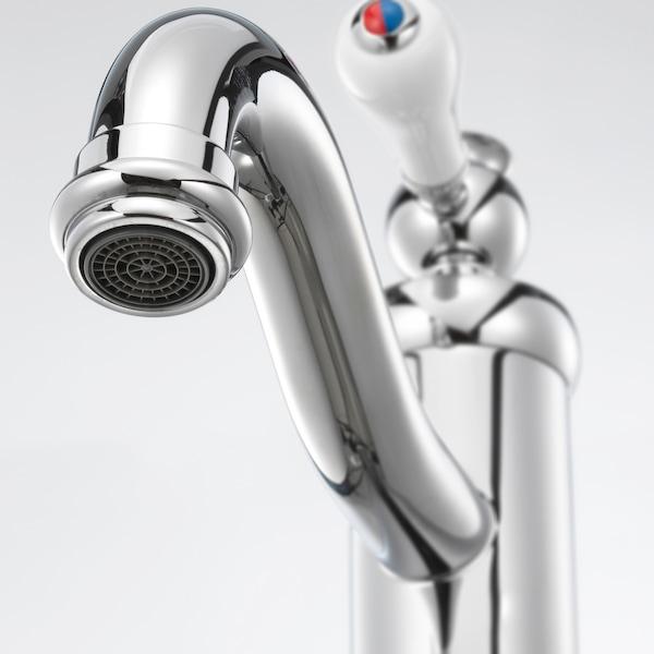 HAMNSKÄR Llave mezcladora de baño alta, cromado