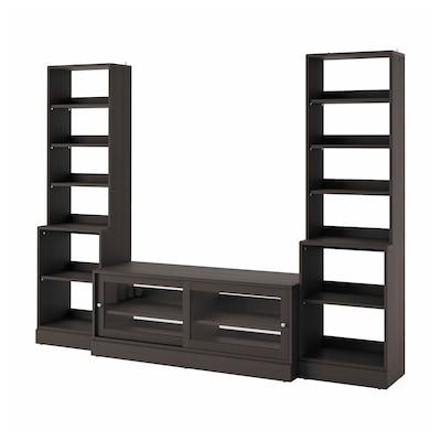 HAVSTA Mueble de TV con almacenaje, café oscuro, 282x47x212 cm