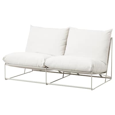 HAVSTEN Sofá 2 asientos int/ext, sin reposabrazos/beige, 164x94x90 cm