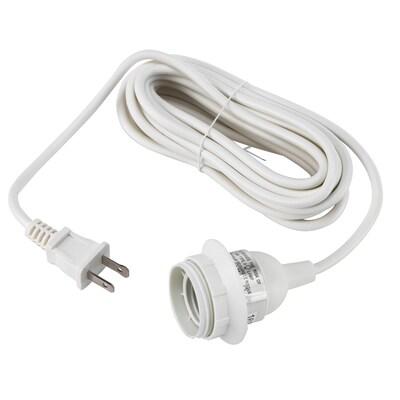 HEMMA Set de cables, blanco, 4.7 m