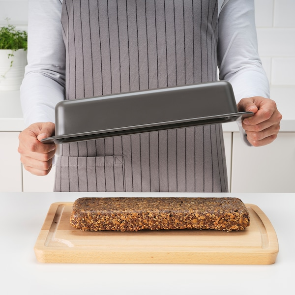 HEMMABAK Molde de pan, gris, 1.8 l