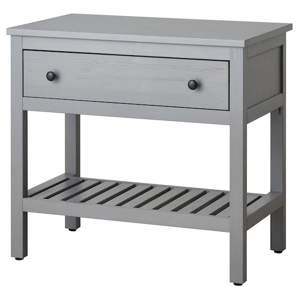 HEMNES Lavabo abierto con 1 cajón, gris, 82x48x76 cm