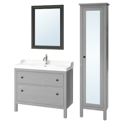 HEMNES / RÄTTVIKEN Muebles de baño, 5 piezas