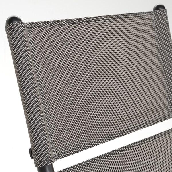 HUSARÖ Sillón para ext, gris oscuro