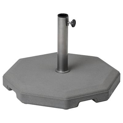 HUVÖN Base para sombrilla, gris, 56x56 cm