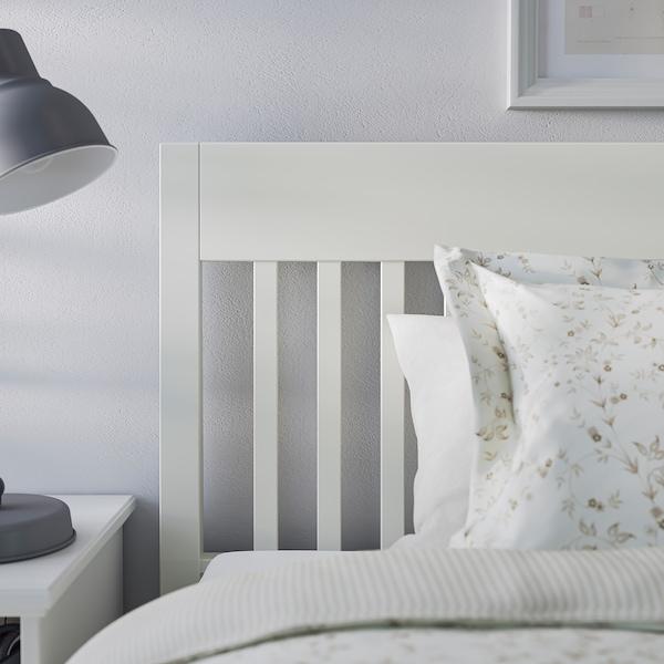 IDANÄS Base de cama, blanco/Luröy, Queen