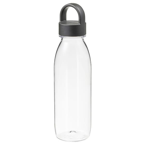 IKEA 365+ Botella de agua, gris oscuro, 0.5 l