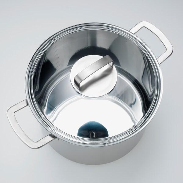 IKEA 365+ Olla con tapa, ac inox/vidrio, 10 l