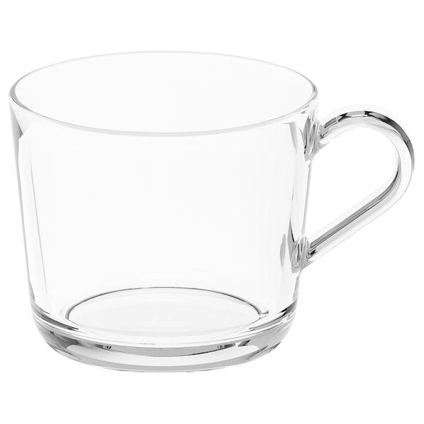 IKEA 365+ Taza, vidrio incoloro, 24 cl