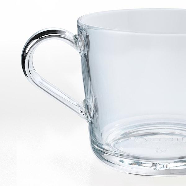 IKEA 365+ Taza, vidrio incoloro, 36 cl