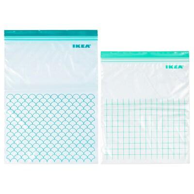 ISTAD Bolsa hermética reutilizable, turquesa/turquesa claro
