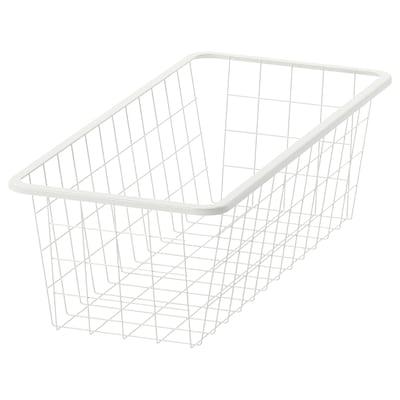 JONAXEL Canasta de alambre, blanco, 25x51x15 cm