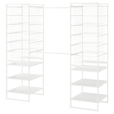 JONAXEL Estructura,canastas, barras de ropa, blanco, 142-178x51x173 cm