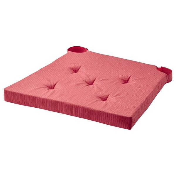 JUSTINA Cojín para silla, rojo, 42x40x4.0 cm