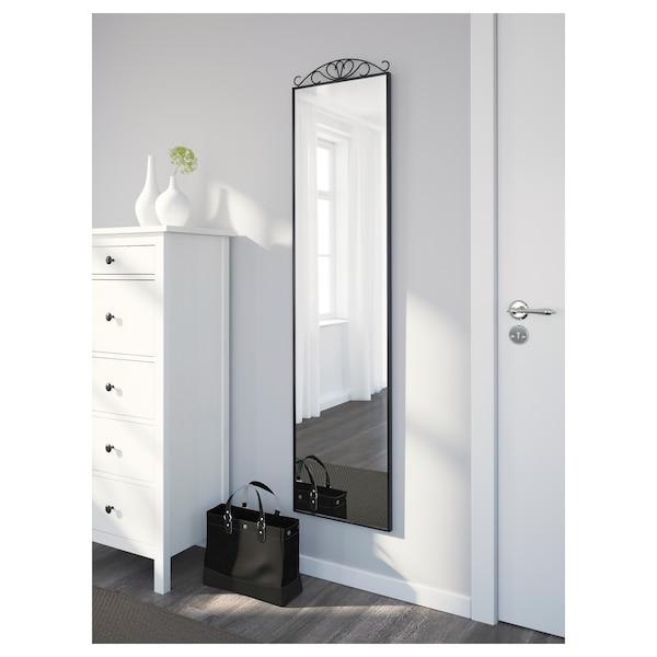 KARMSUND Espejo para piso, negro, 40x167 cm