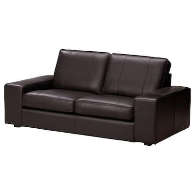 KIVIK Sofá 2 asientos, Grann/Bomstad café oscuro
