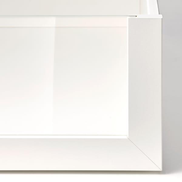 KOMPLEMENT Cajón con frente vidrio, blanco, 100x58 cm