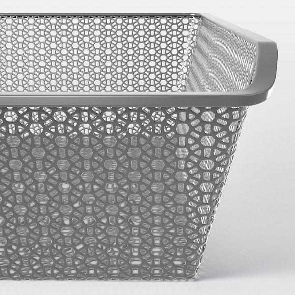 KOMPLEMENT Canasta de metal y riel extraíble, gris oscuro, 100x58 cm