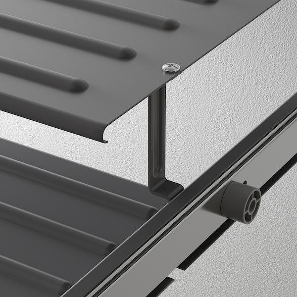 KOMPLEMENT Repisa zapatero extraíble, gris oscuro, 100x58 cm