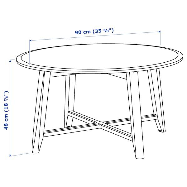 KRAGSTA Mesa de centro, blanco, 90 cm