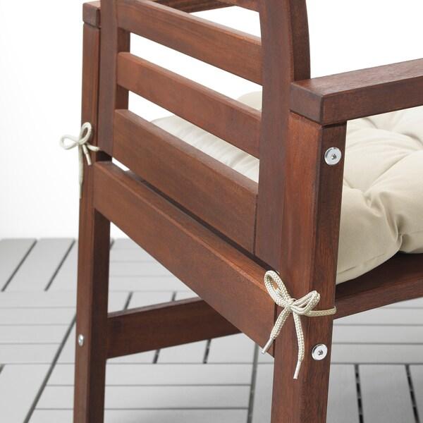 KUDDARNA Cojín para silla, exterior, beige, 50x50 cm
