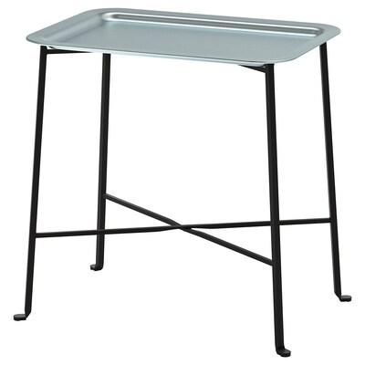 KUNGSHATT Mesa con bandeja, int/ext, gris oscuro/gris, 56x36 cm