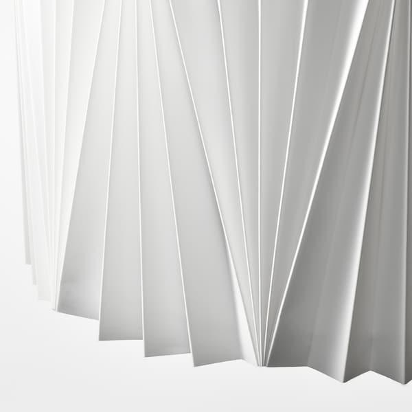 KUNGSHULT Pantalla para lámpara, plisado blanco, 42 cm