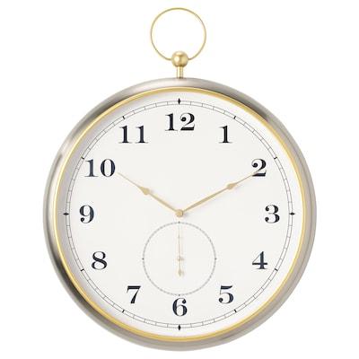 KUTTERSMYCKE Reloj de pared, color plateado, 46 cm