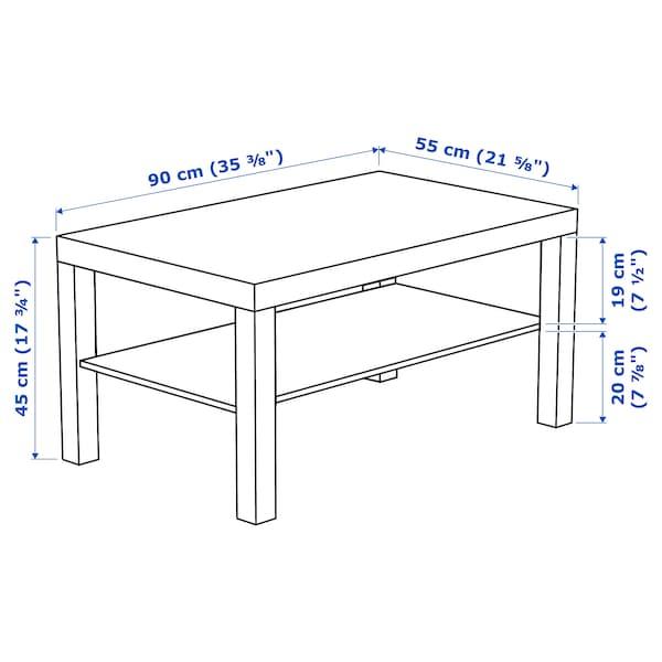 LACK Mesa de centro, negro-café, 90x55 cm