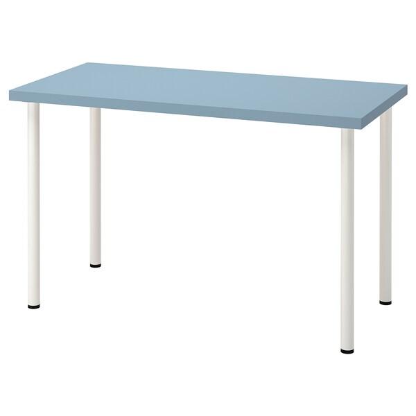 LAGKAPTEN / ADILS Escritorio, azul claro/blanco, 120x60 cm