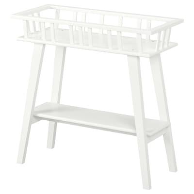 LANTLIV Pedestal para plantas, blanco, 68 cm