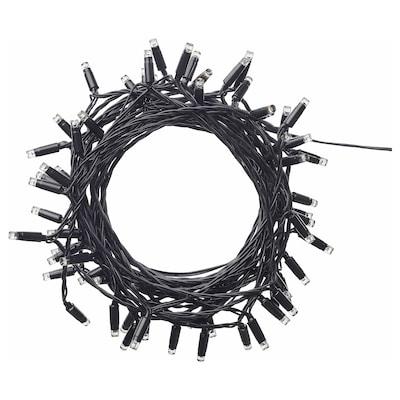 LEDLJUS Guirnalda de 64 luces LED, exterior negro