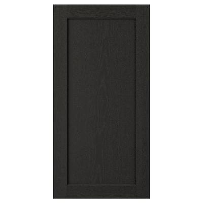 LERHYTTAN Puerta, tinte negro, 38x76 cm