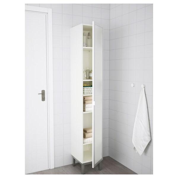 LILLÅNGEN Gab alto, blanco/aluminio, 30x38x179 cm