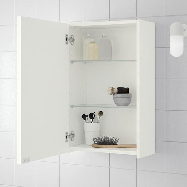 LILLÅNGEN Gabinete de pared, blanco, 40x21x64 cm