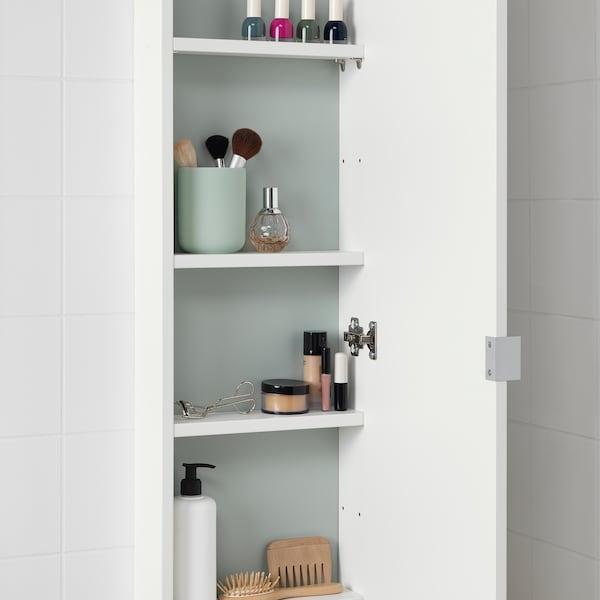 LILLÅNGEN Gabinete de pared con puerta, blanco, 30x12x125 cm