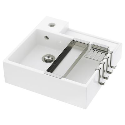 LILLÅNGEN Lavabo 1 tina, blanco, 41x41x13 cm