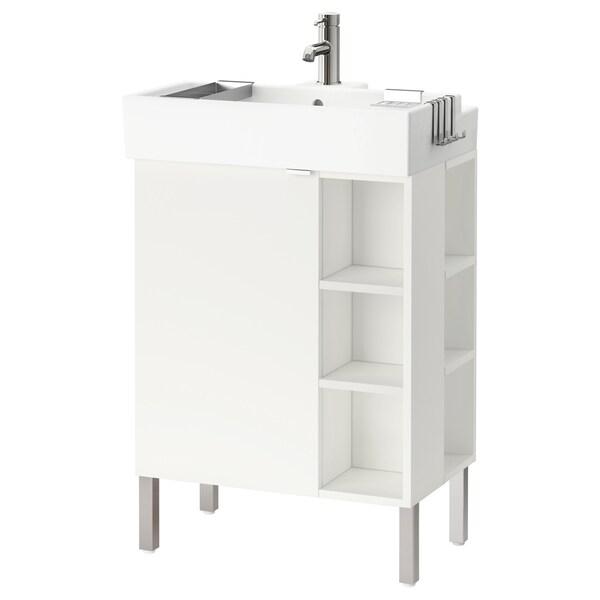LILLÅNGEN Mueble de lavabo con puerta, blanco, 61x41x92 cm