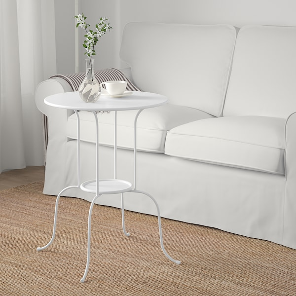 LINDVED Mesa Lateral, blanco, 50x68 cm