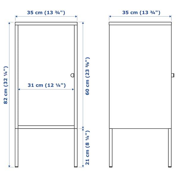 LIXHULT Gabinete, metal/carbón, 35x60 cm