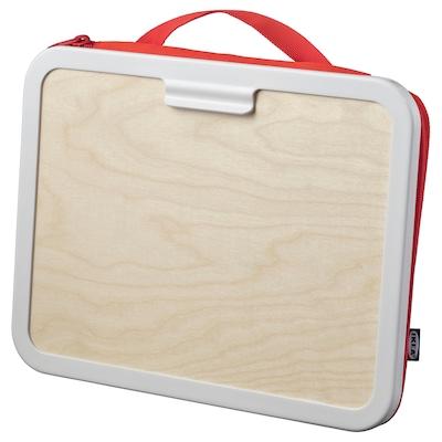 MÅLA Caja accesorios dibujo, rojo, 35x27 cm