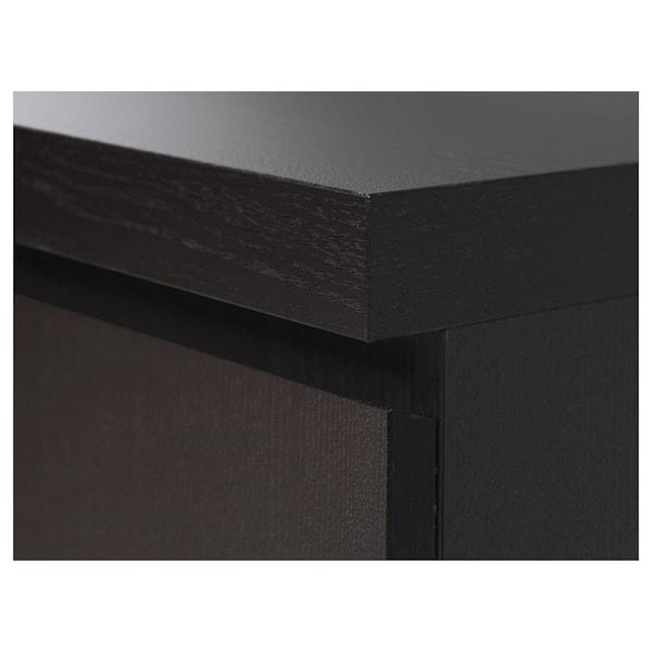 MALM Escritorio, negro-café, 140x65 cm