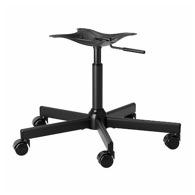 MALSKÄR Estructura de silla, giratoria, negro