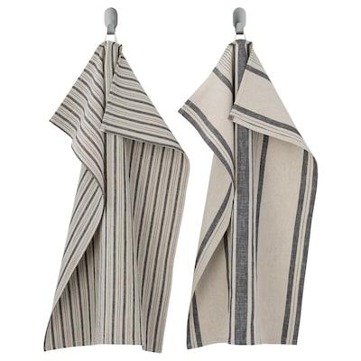 MARIATHERES Toalla de cocina, raya/gris beige, 50x70 cm