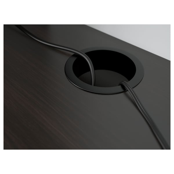 MICKE Escritorio, negro-café, 105x50 cm