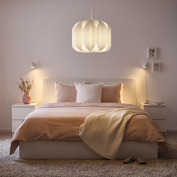 MOJNA Pantalla para lámpara de techo, textil/blanco, 47 cm