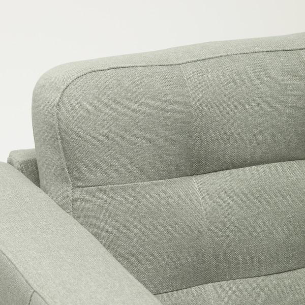 MORABO Sofá con 3 asientos, +chaiselongue/Gunnared verde claro/madera