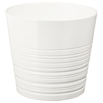 MUSKOT Maceta, blanco, 24 cm