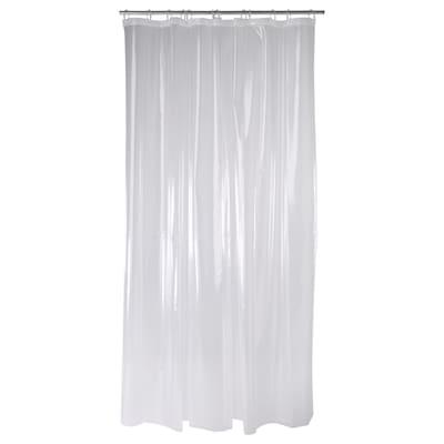 NÄCKTEN Cortina para regadera, transparente, 180x180 cm